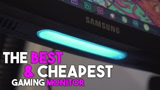 THE BEST & CHEAPEST 144Hz GAMING MONITOR ~ For Gaming / Streaming / Editing ~ Samsung C24FG70 QLED