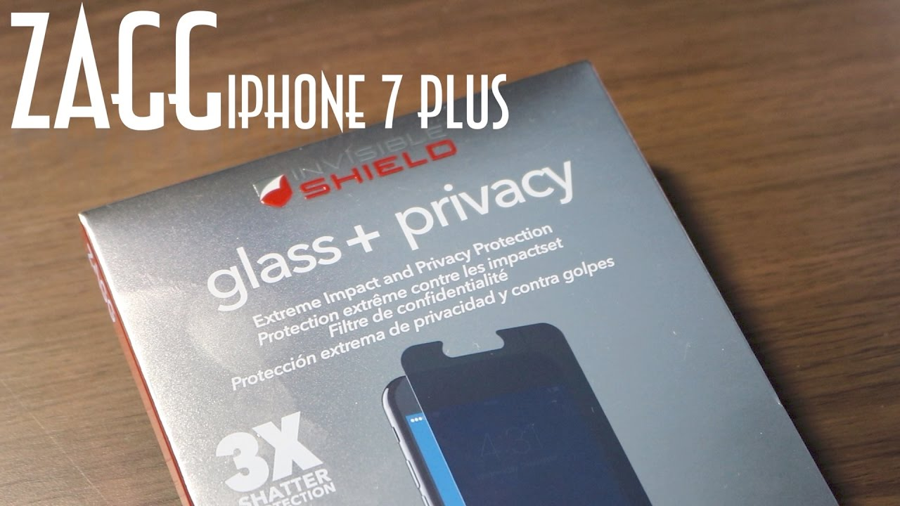 the latest 664cd b2bfe ZAGG Invisible Shield Glass + Privacy Unboxing & Installation for iPhone 7  Plus