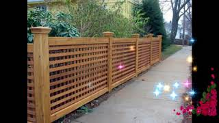 #Top Wooden Fence Ideas For Beautiful Home,Best Wooden Fence Ideas,Exterior Backyard Design Ideas #5