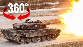 Take a ride on a Swiss Army battle tank I 360 Video