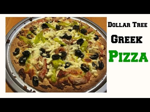 Dollar Tree Gourmet | Greek Pizza