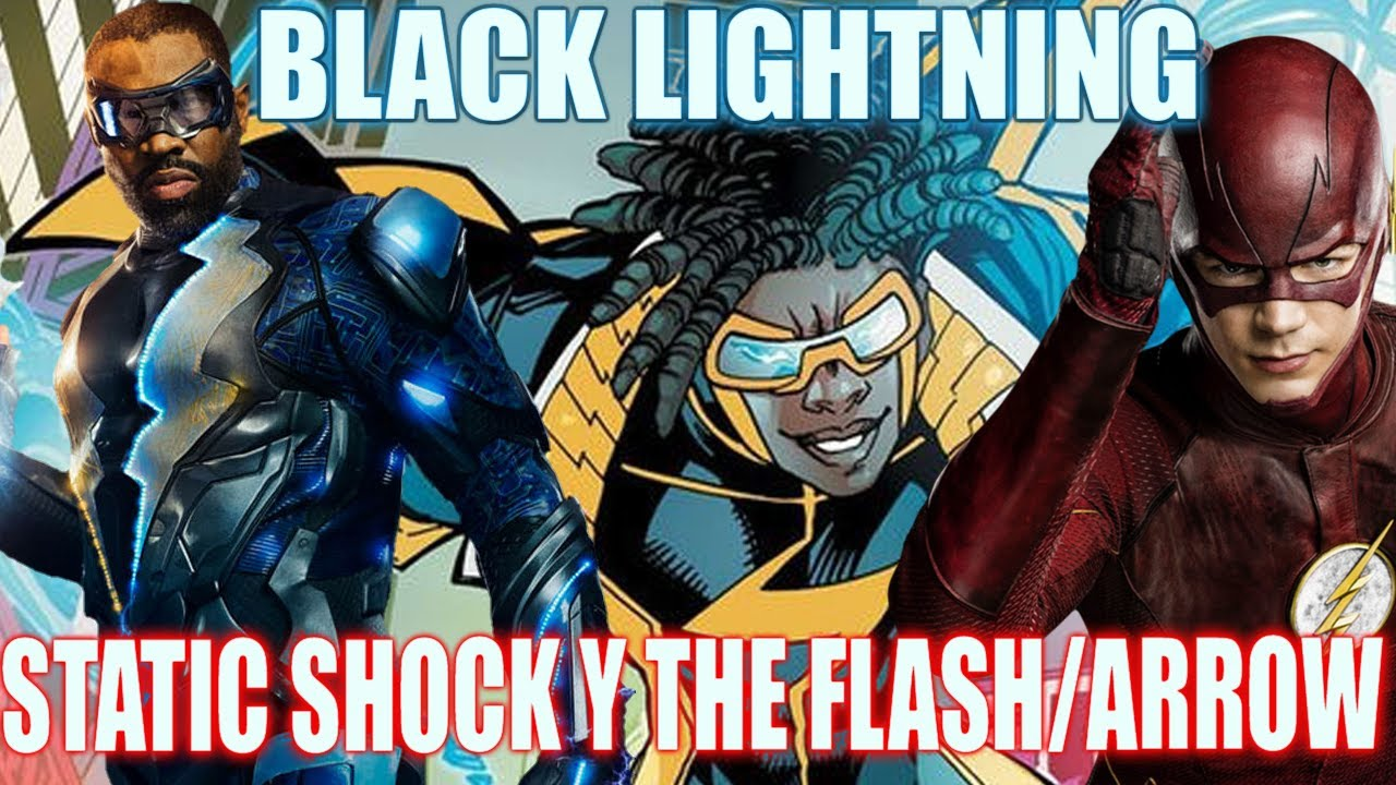 static shock en black lightning y posible crossover con