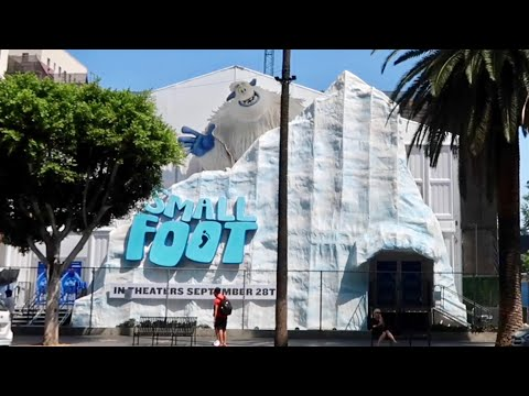 Smallfoot Yeti Village - HUGE Interactive Pop Up Exhibit / Snow in Hollywood