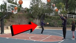 OUTDOOR BASKETBALL WITH THE FAMILY! Is My Dad Better Than Me?