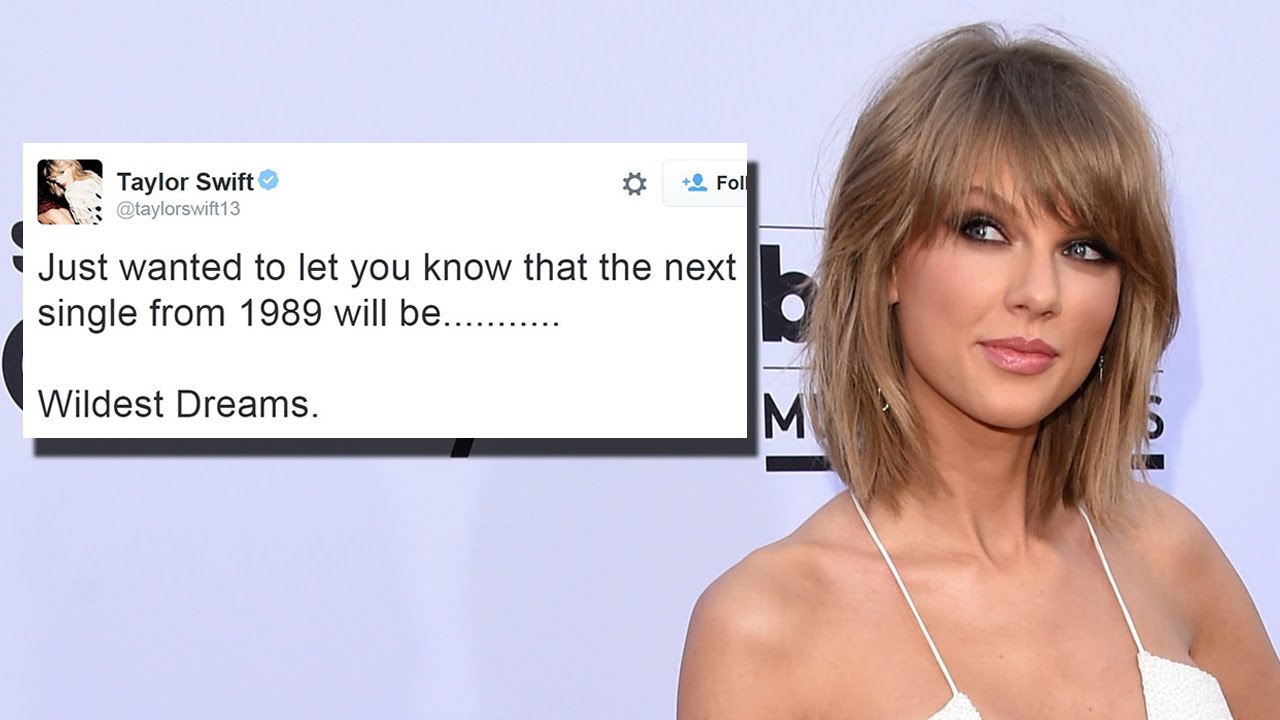 Taylor Swift Announces Next Single Wildest Dreams Youtube