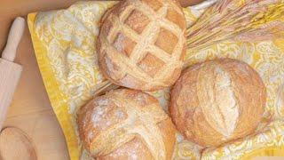 Receta de hogaza de pan casero. ¡Fácil y deliciosa!