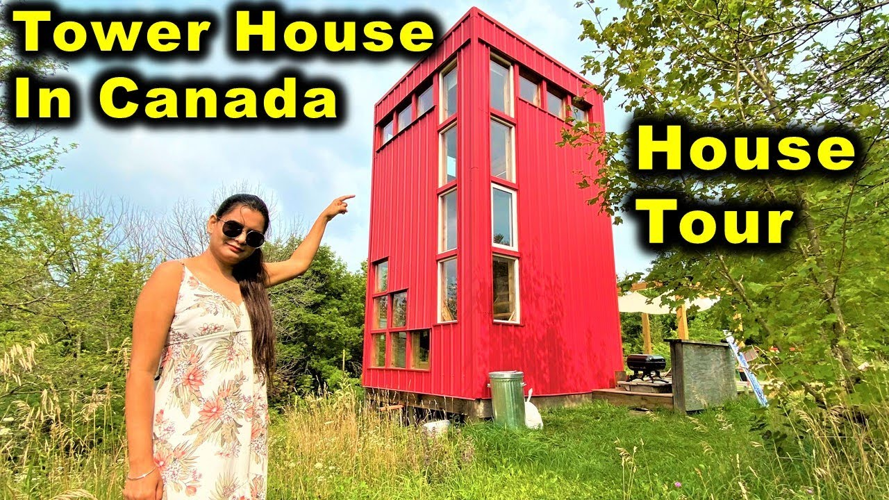 Tower House In Canada 😍 | The Red Tower House Tour By Canada Couple Vlogs