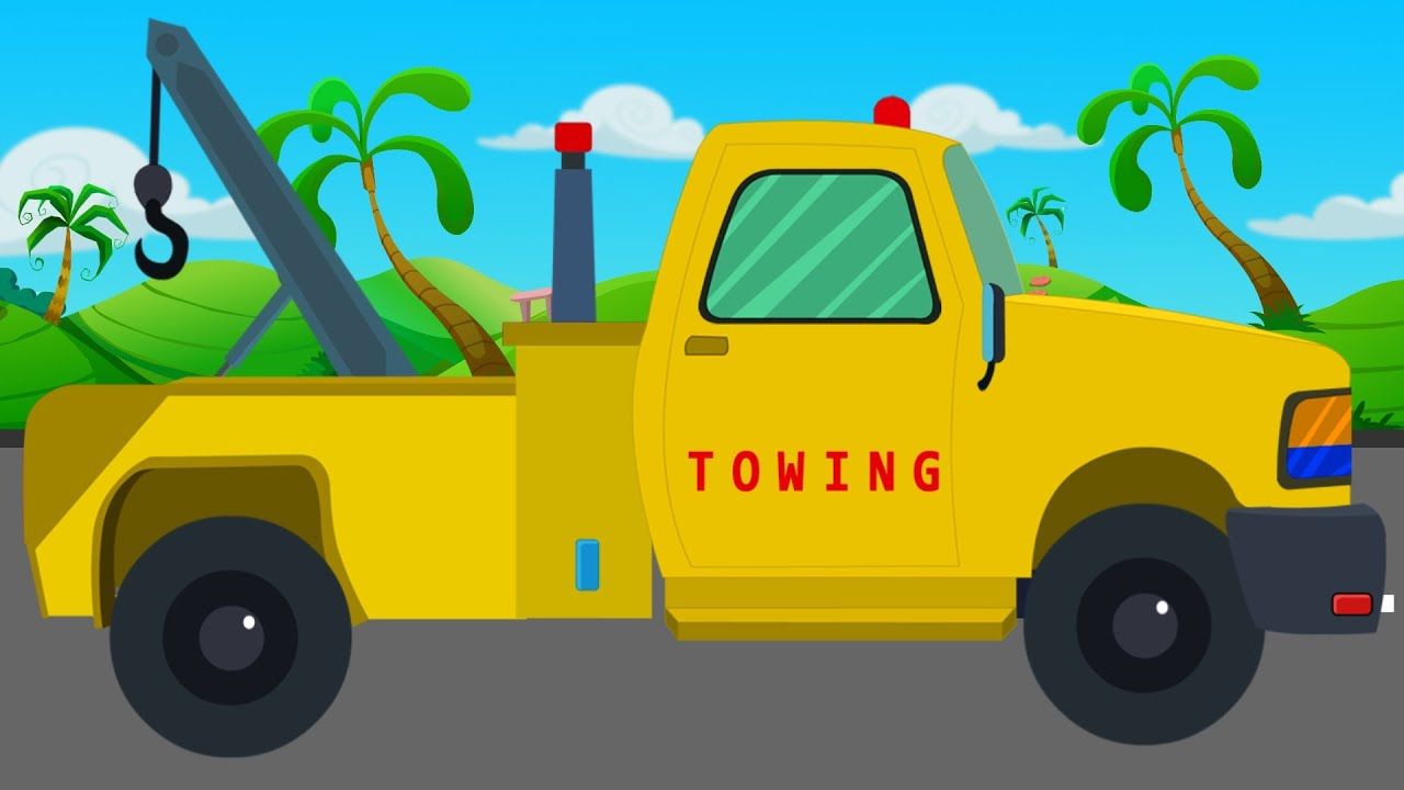 tow truck and repairs video for children video for kids baby video youtube. Black Bedroom Furniture Sets. Home Design Ideas