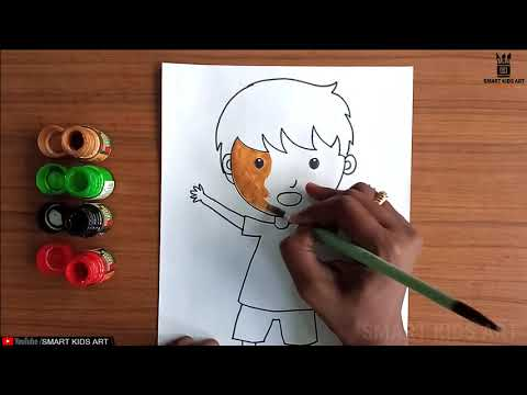 Simple Drawing - How To Draw A Boy   Boy Drawing For Kids   Boy Drawing Easy Step by Step