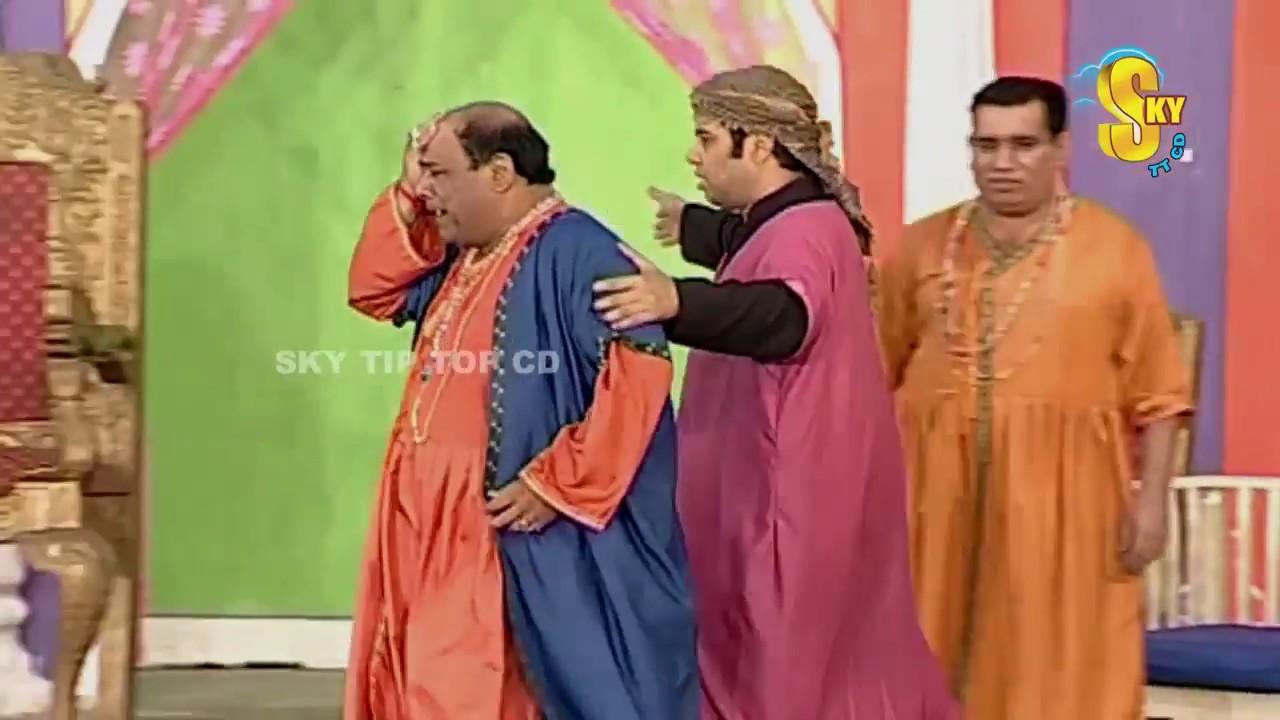 Agha Majid Nasir Chinyoti and Iftikhar Thakur Stage Drama Chuski Clip