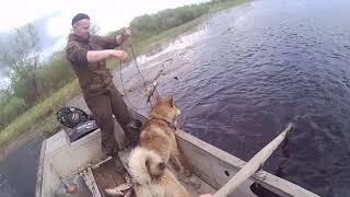 Лов рыбы сетями на разливах реки после распаления льда 2021 3 серия