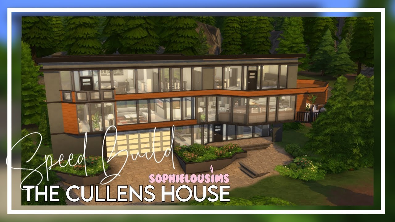 Base Game Get Famous Hoke House Twilight The Cullens The Sims 4 Speed Build Youtube