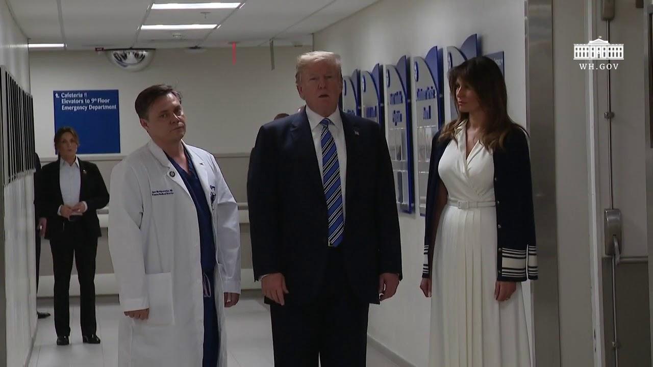 Hasil gambar untuk President Trump Delivers Remarks at Broward Health North Hospital