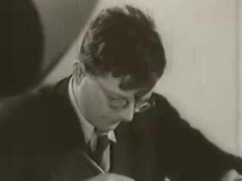 Dmitri Shostakovich filmed in 1944 (Rare)