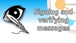 Signing and verifying messages
