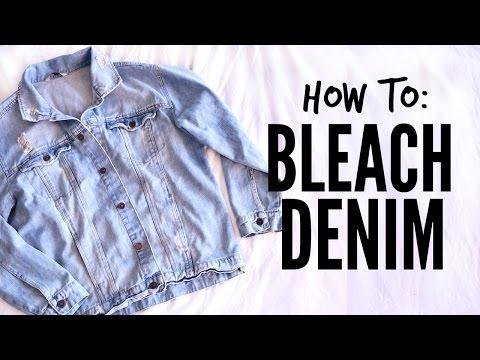 DIY: How to Bleach Denim