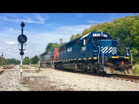 Indiana & Ohio Railway Tunnel Motor Power Move Pacing & Chase! Genesee & Wyoming Railroad!