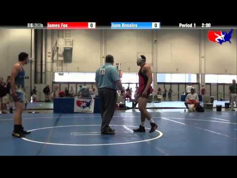 James Fox vs. Juan Rosales at 2013 Junior Nationals - FILA - FS