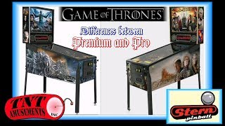 #1365 Stern GAME OF THRONES Pinball-Differences between Premium & Pro versions TNT Amusements