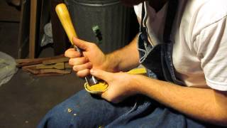 Hollowing A Spoon Bowl With An Gouge Part 2
