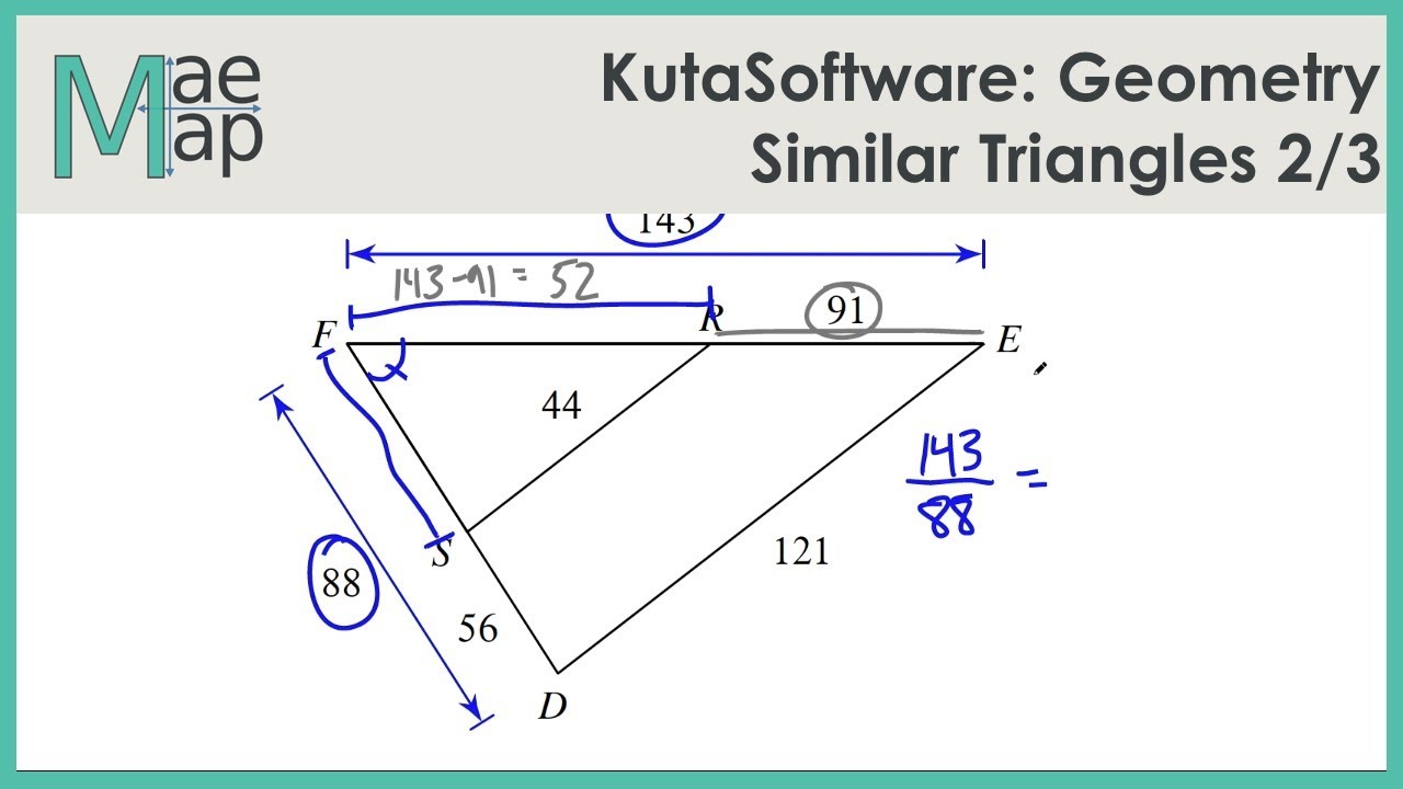 medium resolution of KutaSoftware: Geometry- Similar Triangles Part 2 - YouTube