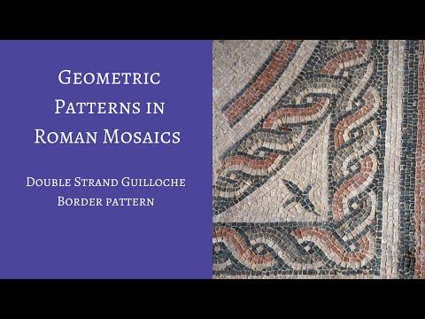 Roman Geometric Mosaics, 2 strand guilloche