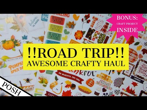 ROAD TRIP!! Awesome Craft Haul/FABULOUS PAPERS/ See The Papers I Picked⭐️BONUS: Haul Craft Project⭐️