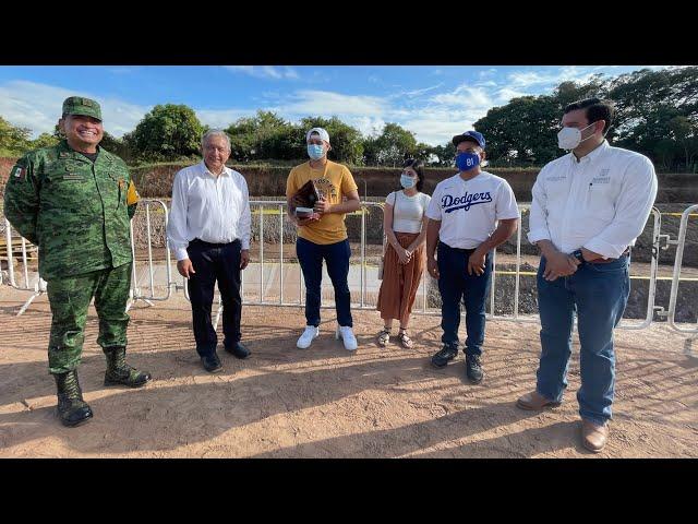 Supervisión de la Presa Santa María, desde El Rosario, Sinaloa