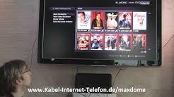 maxdome mediaCenter Praxistest / Testbericht - die Online-Videothek mit Video-Streaming