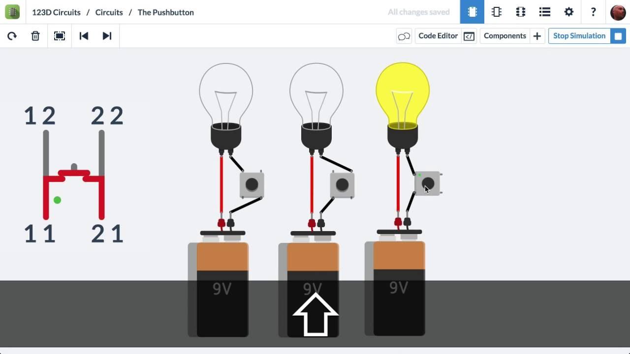 Pushbutton Electronics Lab Youtube Circuitsio Free Electronic Circuit Design Tool Online Premium