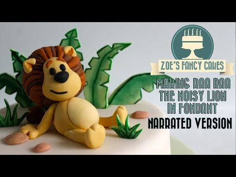 rara the noisy lion birthday cake