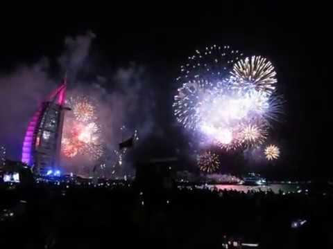 Бөрж Әл Ғәрәп Салют Burj Al Arab fireworks