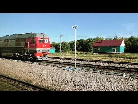 Тамбов - Мичуринск-Уральский - Токарёвка из окна поезда