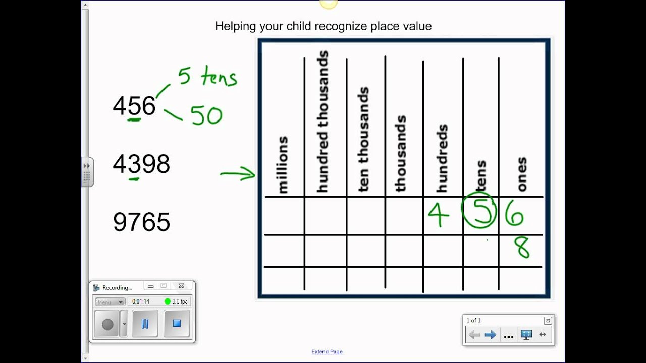 worksheet Place Value Chart using place value chart youtube chart