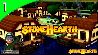 StoneHearth - A VILA DAS OVELHAS SE INICIA! #1 ( GAMEPLAY / PC / PTBR PORTUGUÊS ) HD