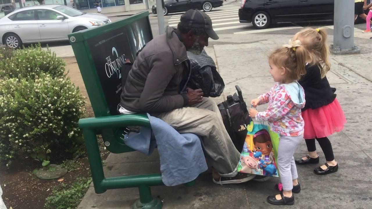 kids volunteer to help the homeless youtube