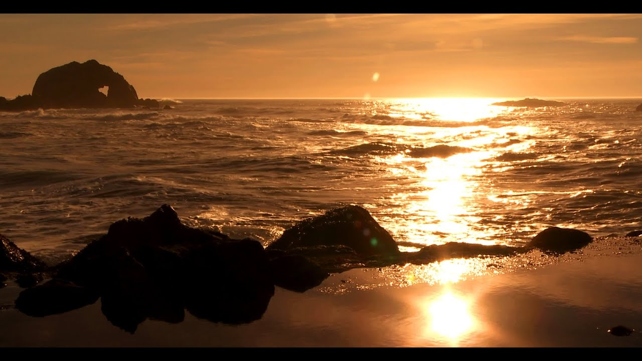 zen ocean of bliss golden california coast relaxing wave