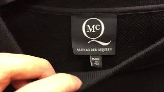Easy to spot a real authentic Alexander McQueen Sweater