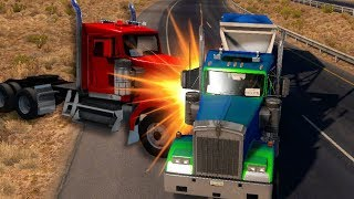 I'M BEING HUNTED DOWN! (American Truck Simulator Gameplay Roleplay) Truck Crashes & Truck Pursuits!