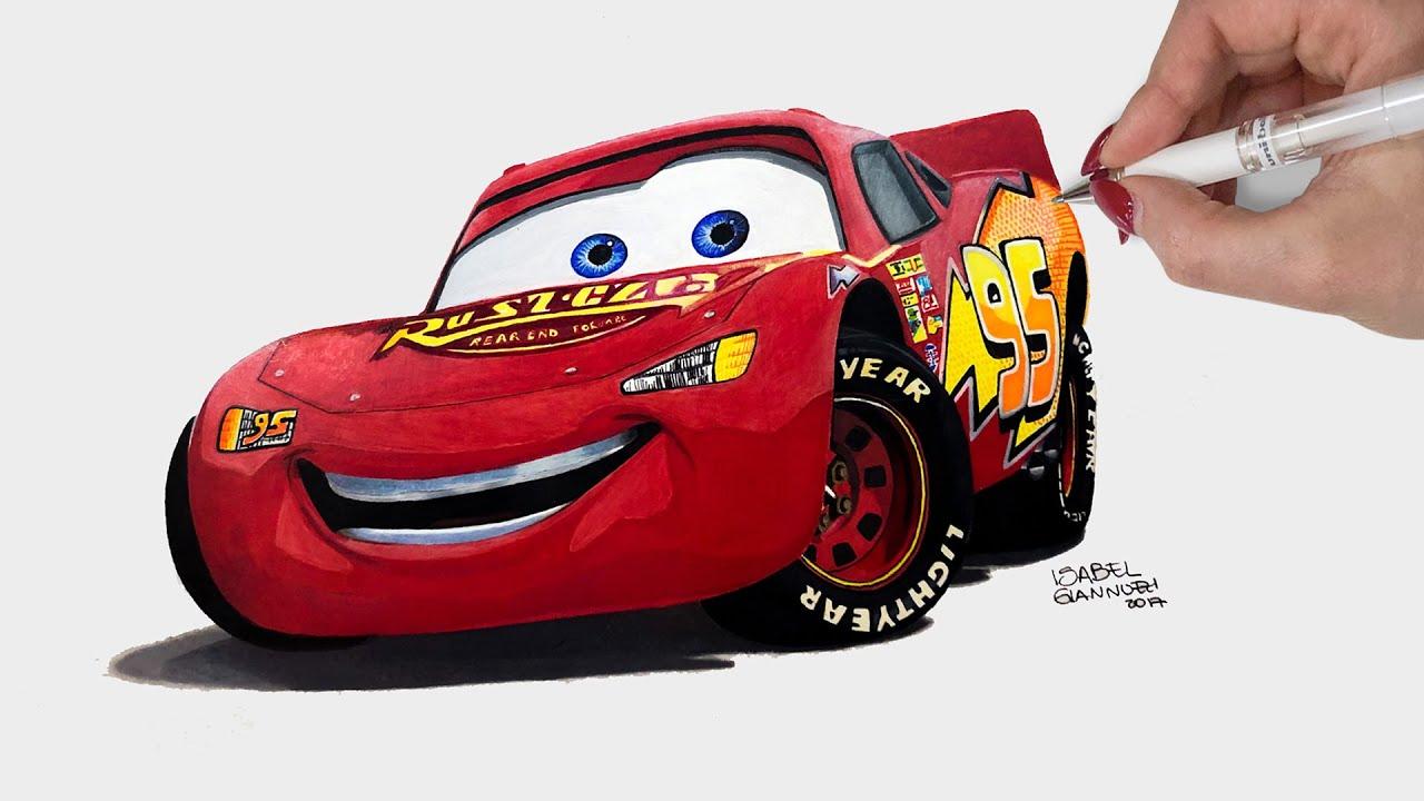 Cara Menggambar Mobil Lightning Mcqueen Untuk Anak By Cara Menggambar Sesuatu