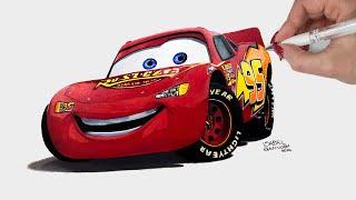 Drawing Lightning McQueen Cars 3 - Disney Art