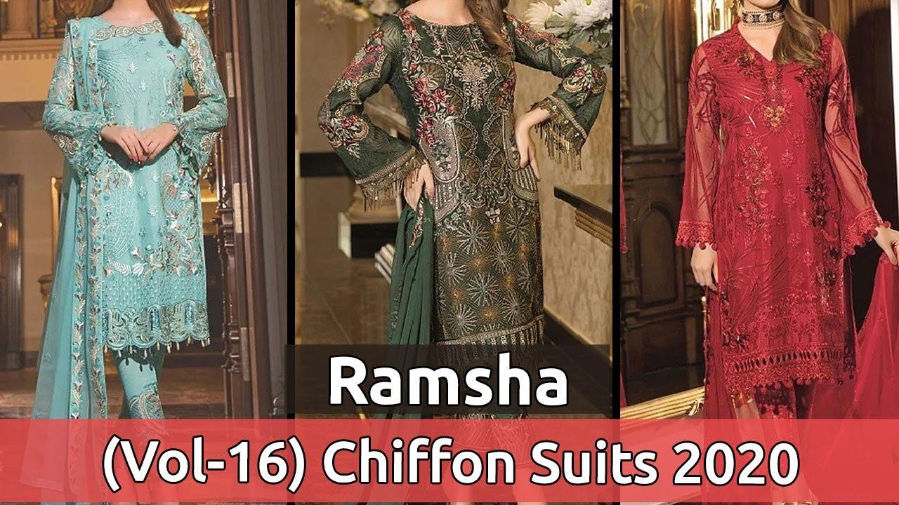 RAMSHA (VOL-16) Latest And Stylish Chiffon Dresses 2020 | New Pakistani Chiffon Suits