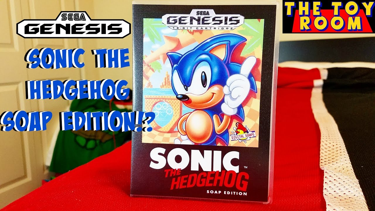 Sega Genesis Sonic The Hedgehog Soap Edition Unboxing Youtube