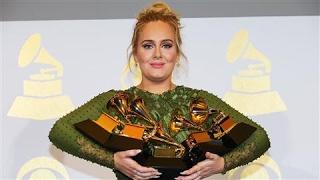 "Adele Says ""Hello"" to Five Grammy Awards, Beating Beyoncé"