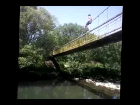 Skok sa viseceg mosta - Arilje, Rzav