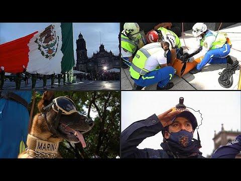 فيديو: مكسيكيون يستحضرون ذكرى ضحايا الزلازل ويقومون بتدريبات وقائية ضد الكارثة…