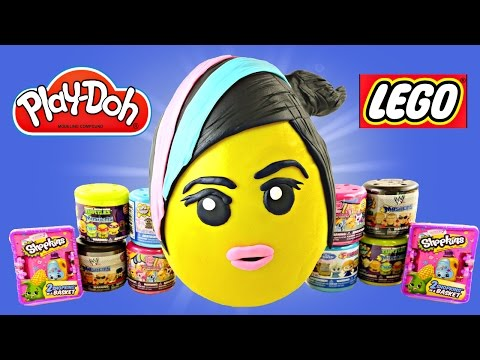 JUMBO WyldStyle LEGO Movie Play Doh Surprise Egg Frozen WWE Shopkins MyLittlePony TMNT Mashems