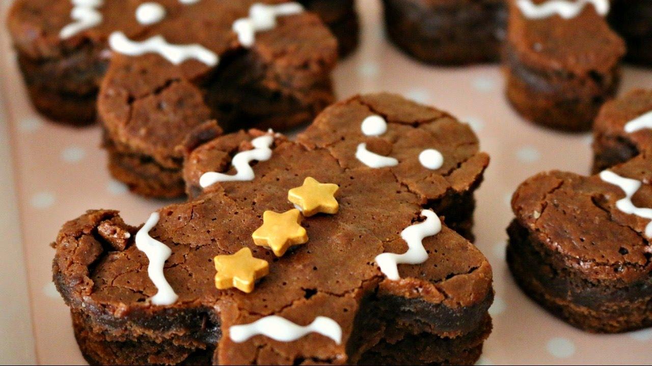 Gingerbread Men Brownies 12 Days Of Xmas Baking Sweetco0kiepie