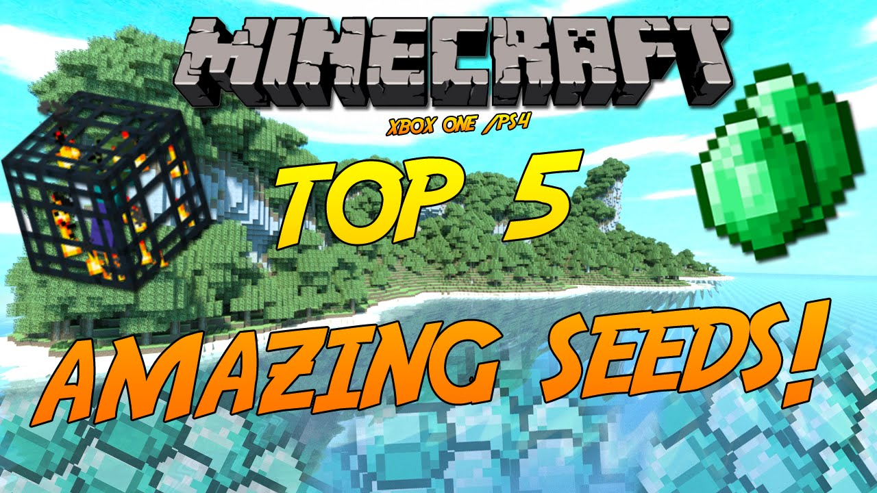 Minecraft Xbox One/PS10/PE: Top 10 Amazing Seeds! (HD)