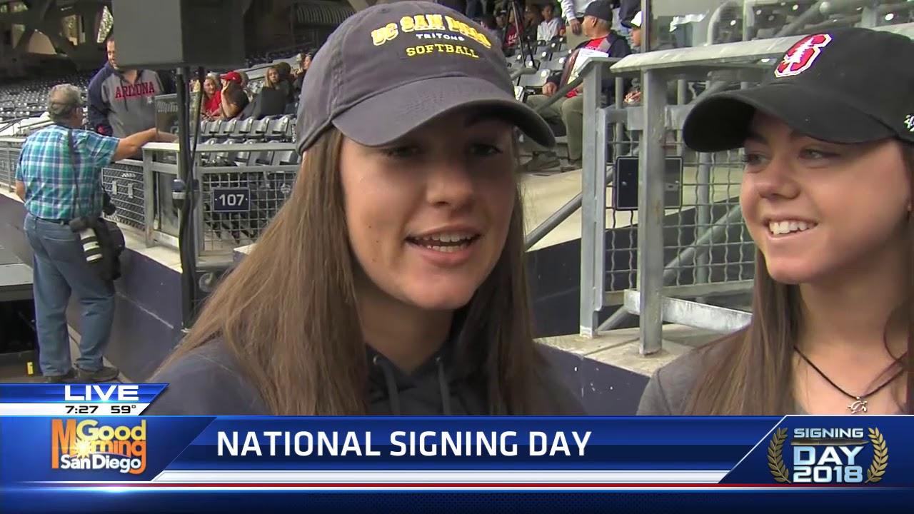2018 National Signing Day Valeria Pero Sydney Steele Sophia Real